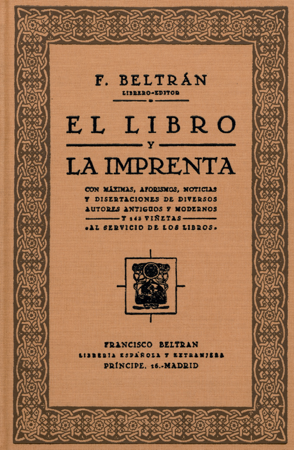 El libro y la imprentaFrancisco Beltrán