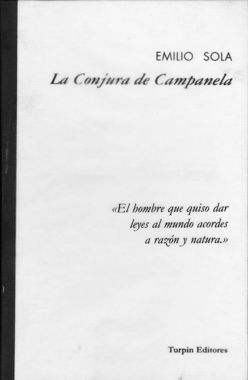 La Conjura de CampanelaEmilio Sola