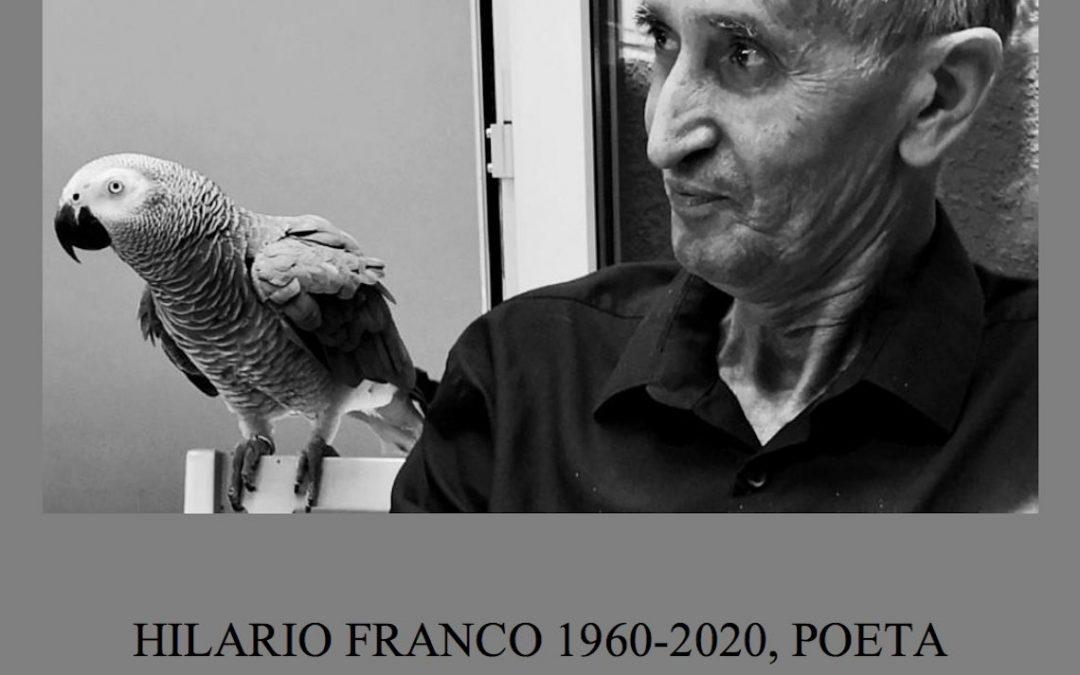 Adiós Hilario Franco «somos seres solos»